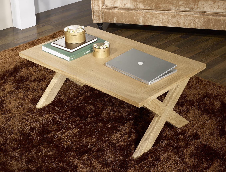 Table basse rectangulaire Jules en chêne de style