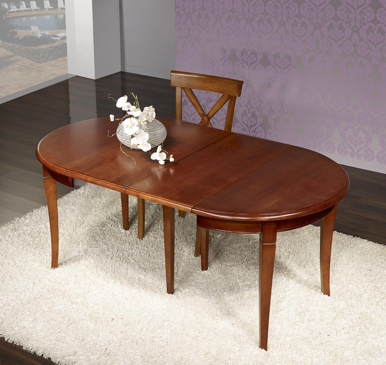 Table ronde en merisier massif de sytle louis philippe - Table ronde meuble ...