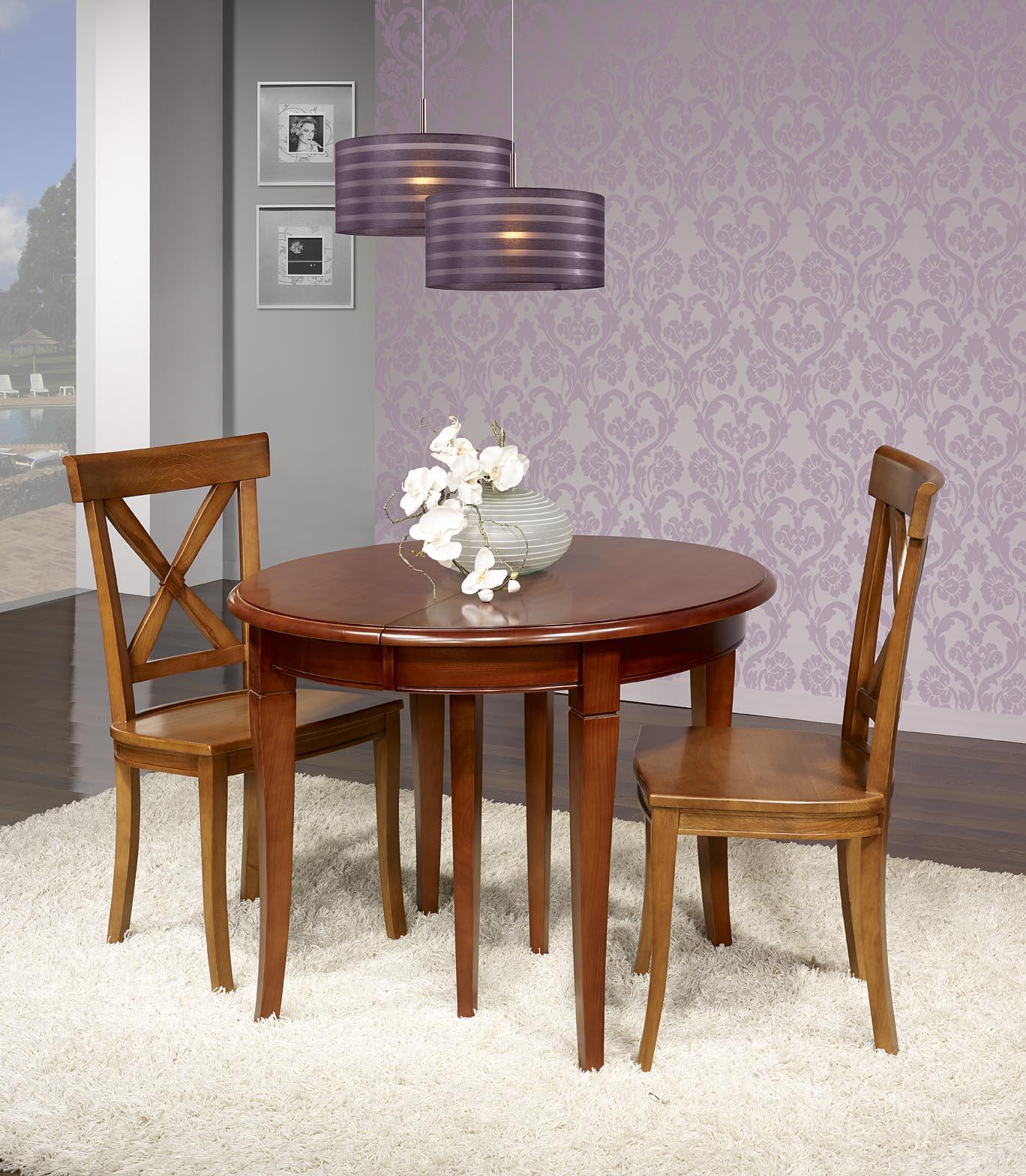 table ronde en merisier massif de sytle louis philippe diametre 100 meuble en merisier massif. Black Bedroom Furniture Sets. Home Design Ideas