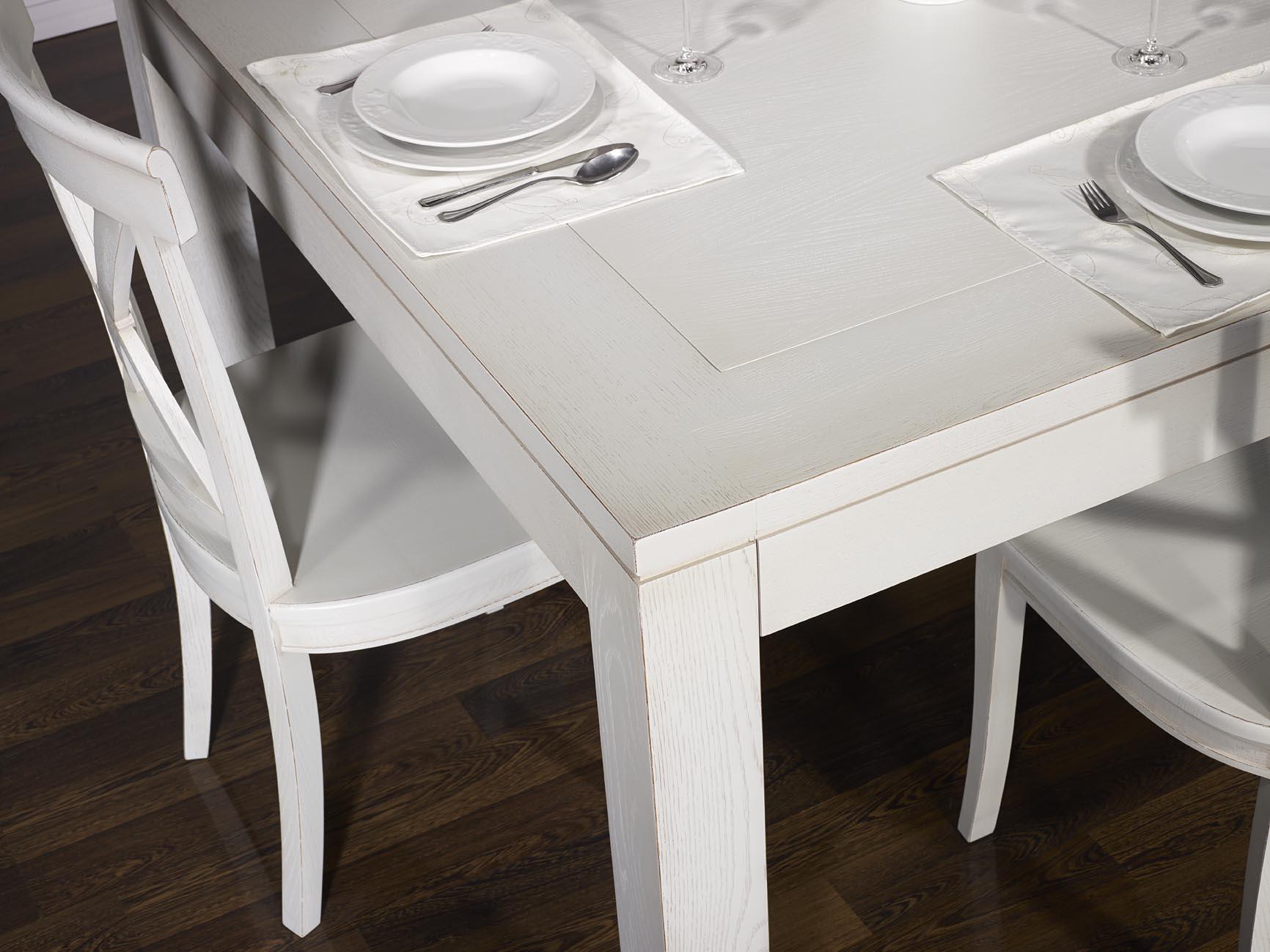 Table de salle à manger 140*140 contemporaine en chêne finition ...