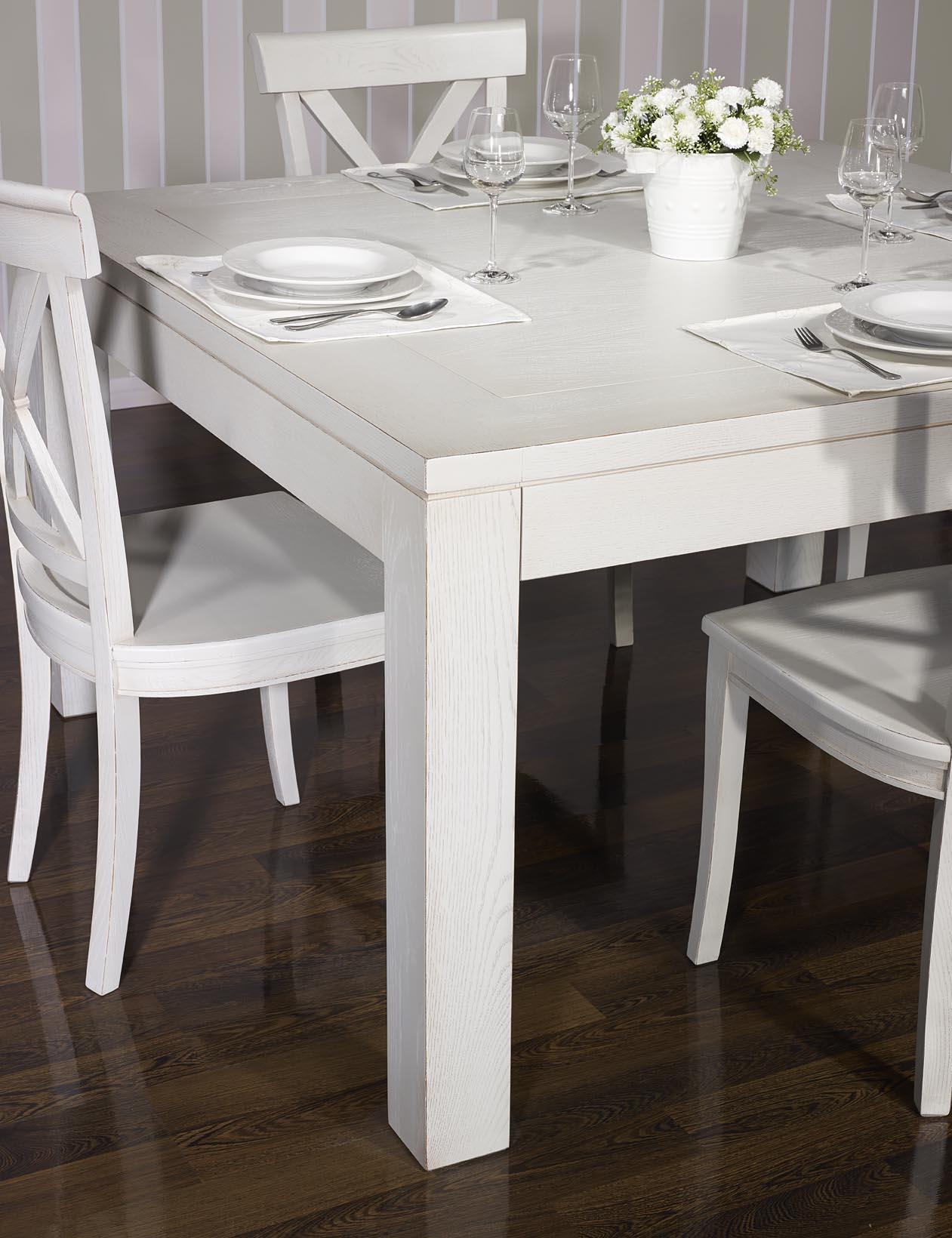 Table de salle manger 150 150 contemporaine en ch ne for Meuble de salle a manger en chene massif