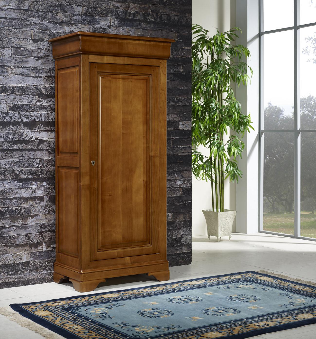 Bonnetière en Merisier Massif de style Louis Philippe , meuble en Merisier  massif