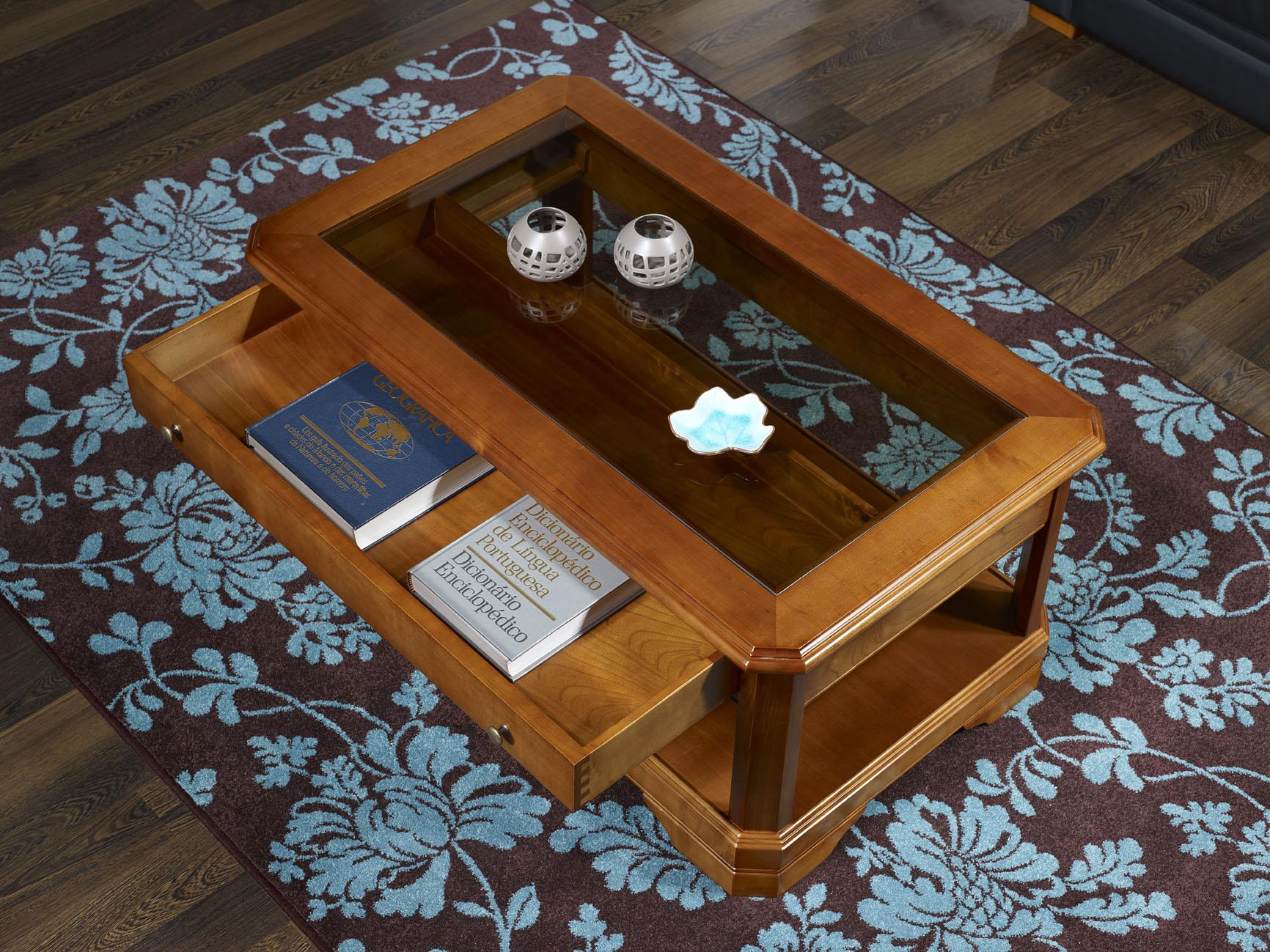 Table Basse En Merisier Massif De Style Louis Philippe Tiroir  # Catalogue Meubles En Bois