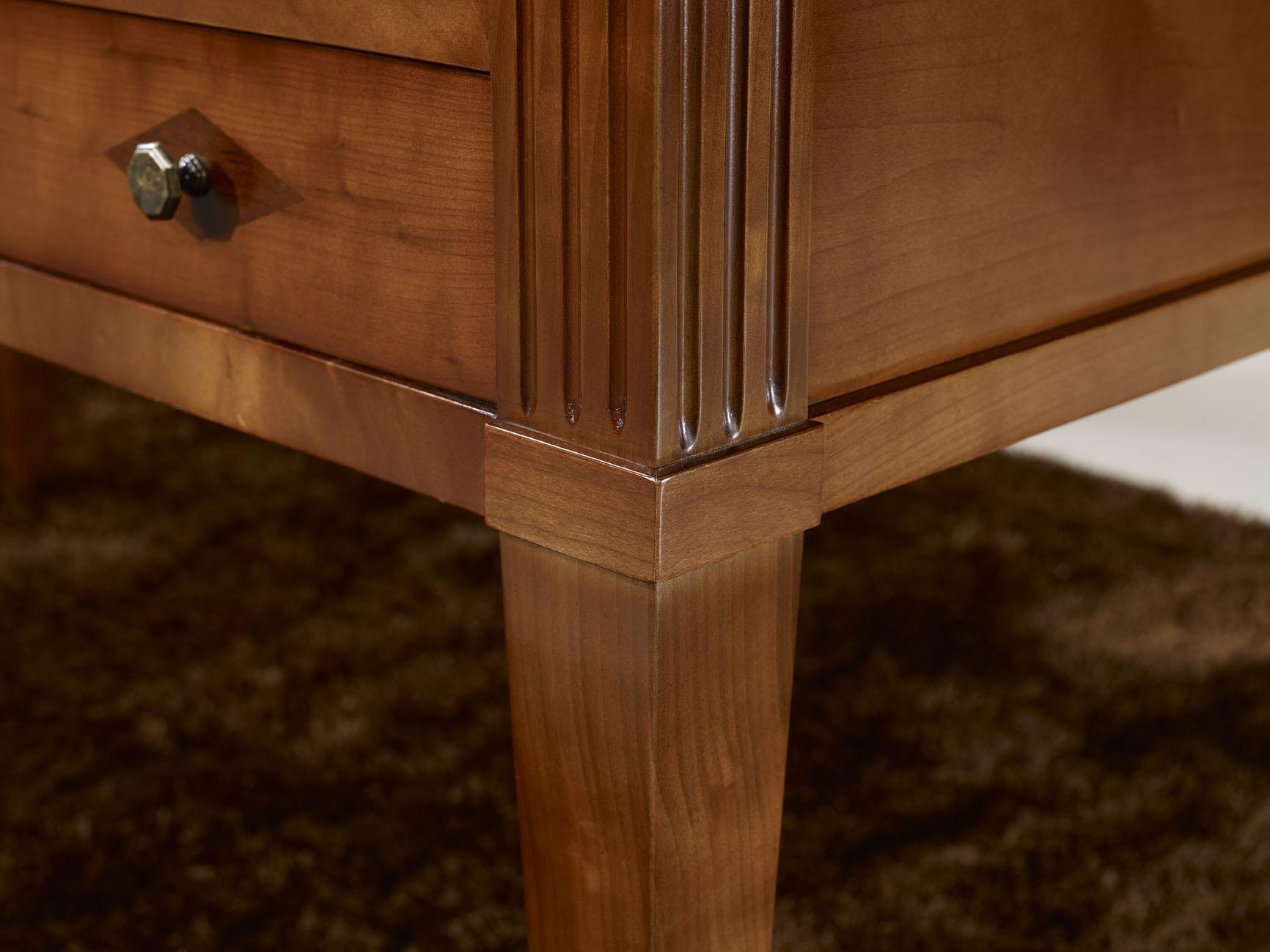bureau ministre en merisier massif de style directoire meuble en merisier massif. Black Bedroom Furniture Sets. Home Design Ideas