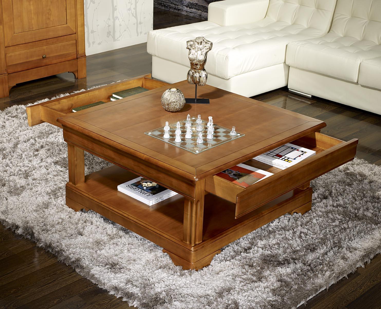 table basse carre merisier. Black Bedroom Furniture Sets. Home Design Ideas