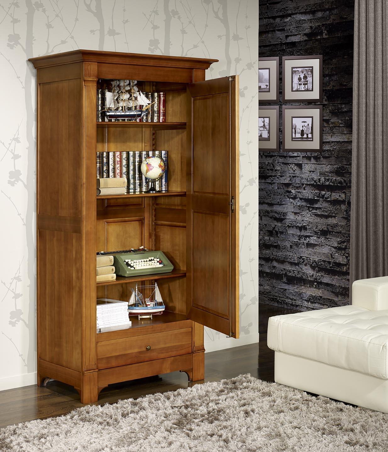bonneti re 1 porte 1 tiroir de style directoire en. Black Bedroom Furniture Sets. Home Design Ideas