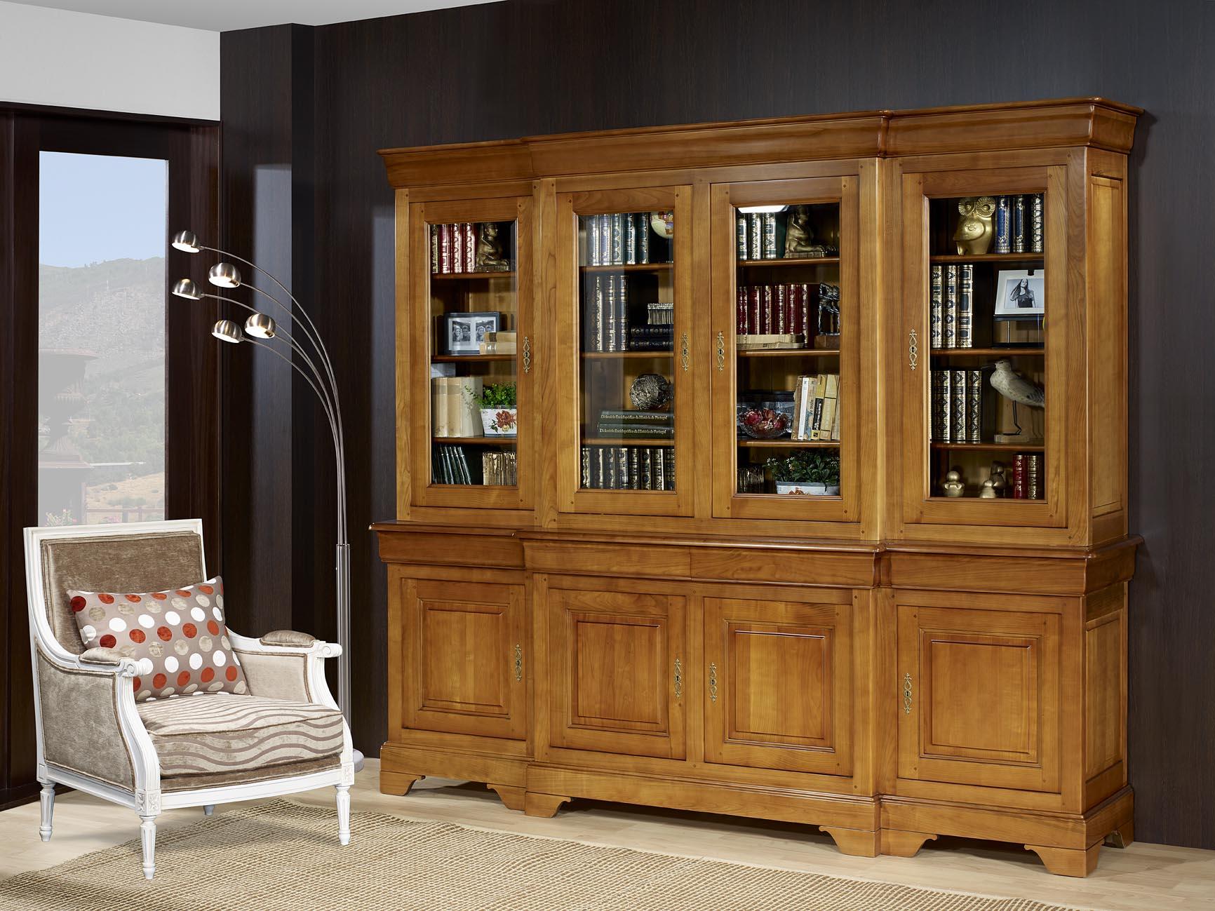 bibliotheque merisier. Black Bedroom Furniture Sets. Home Design Ideas
