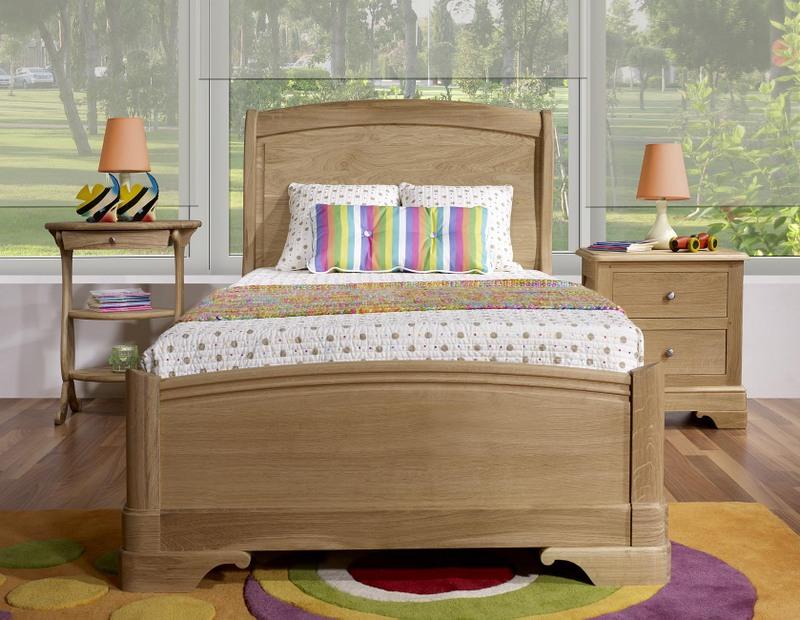 lit 90x190 de style louis philippe diego en ch ne massif finition ch ne bross naturel meuble. Black Bedroom Furniture Sets. Home Design Ideas