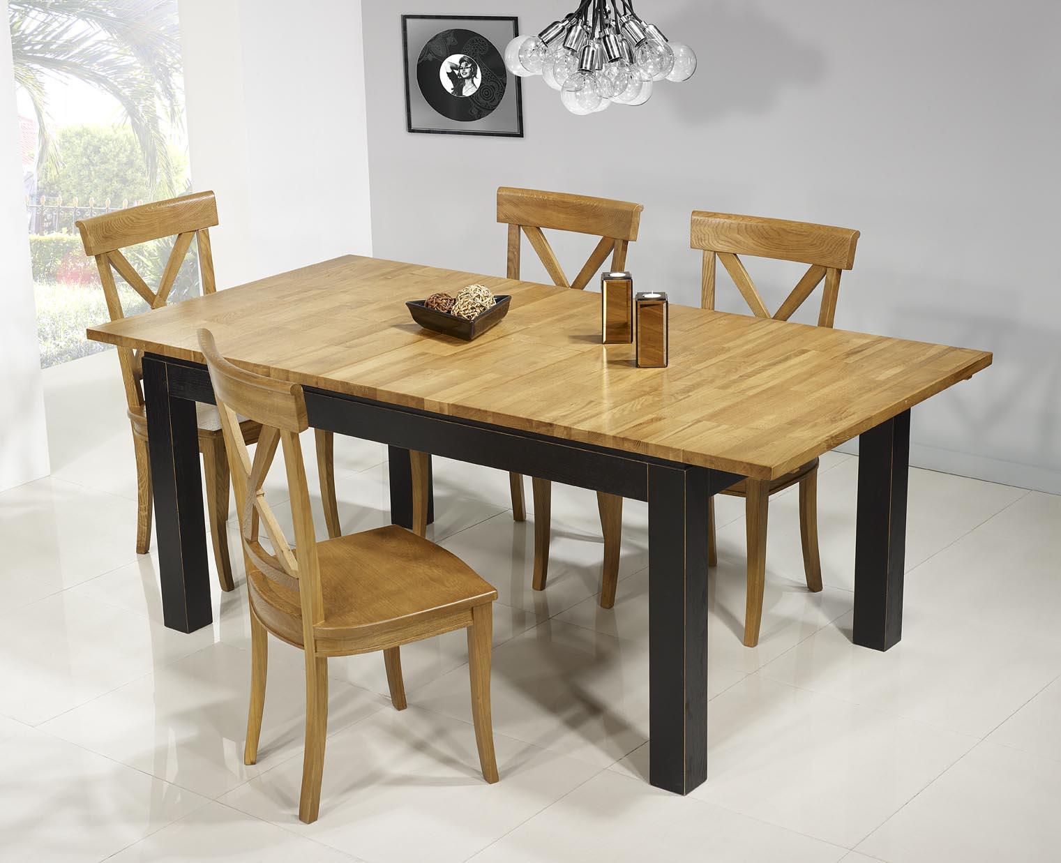 table de repas rectangulaire 160x100 th o en ch ne ligne contemporaine version ecologique et bi. Black Bedroom Furniture Sets. Home Design Ideas