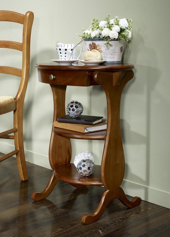 table de nuit en merisier massif de style louis philippe meuble en merisier massif. Black Bedroom Furniture Sets. Home Design Ideas