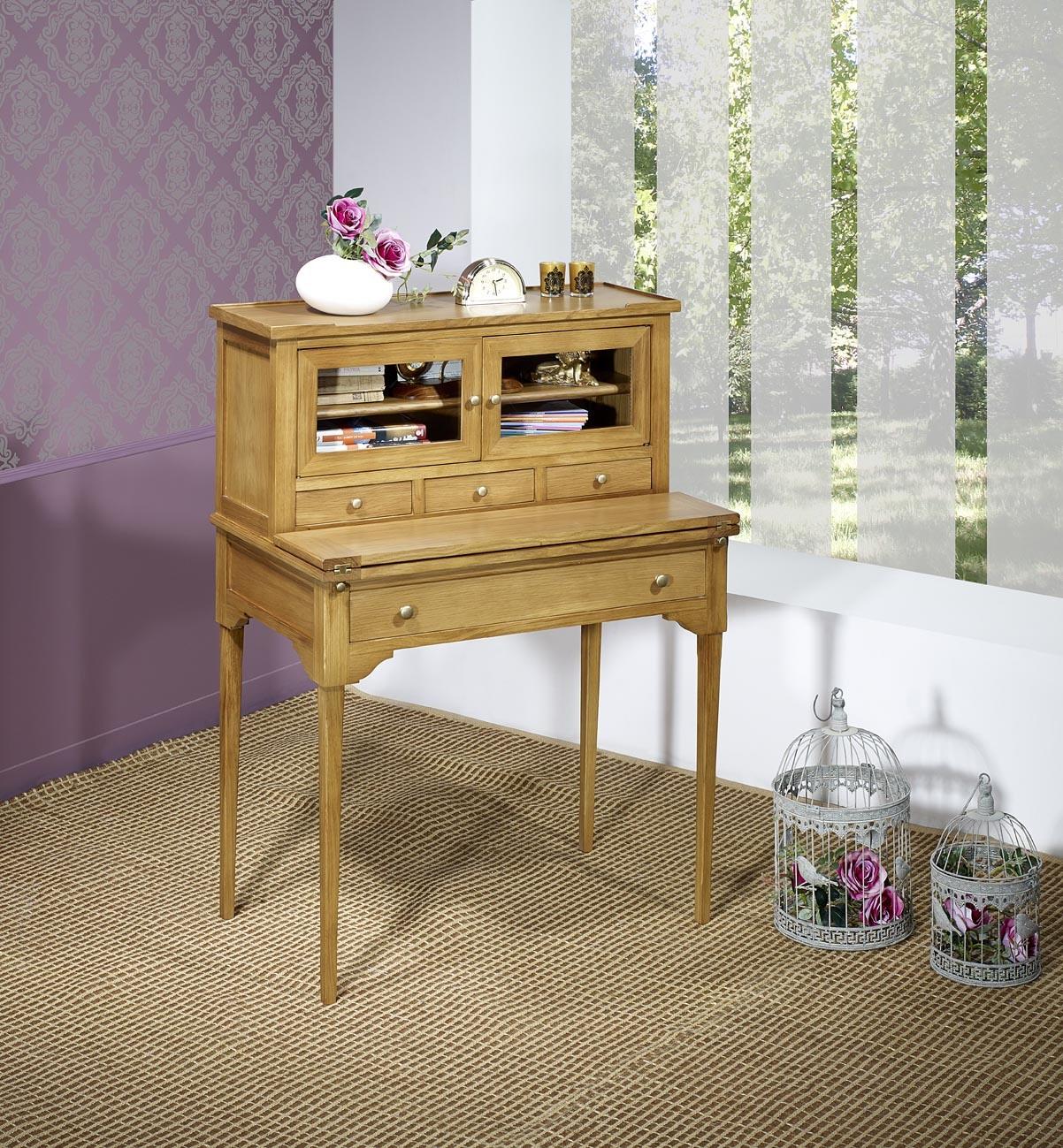 bonheur du jour guilherm en ch ne de style directoire meuble en ch ne massif. Black Bedroom Furniture Sets. Home Design Ideas