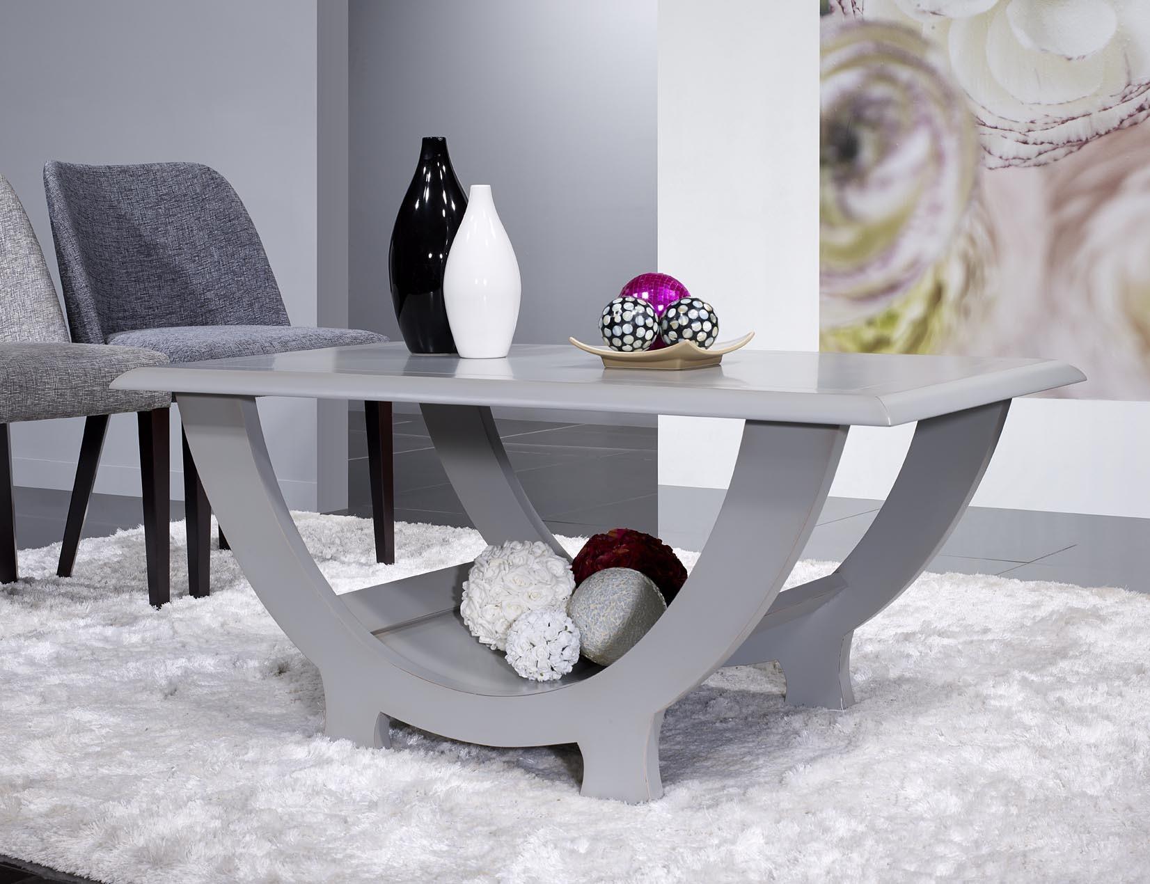 table basse l na en merisier massif finition gris patin. Black Bedroom Furniture Sets. Home Design Ideas