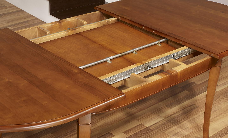 Table ovale constance 180 120 en merisier massif de style for Table salle manger ovale bois massif