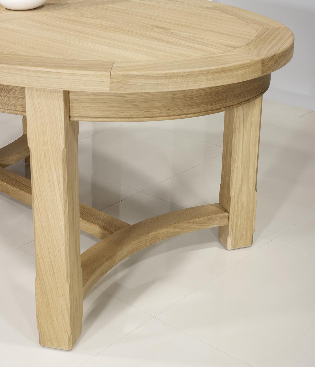 Table de ferme ovale tom en ch ne massif de style for Table ovale en bois massif