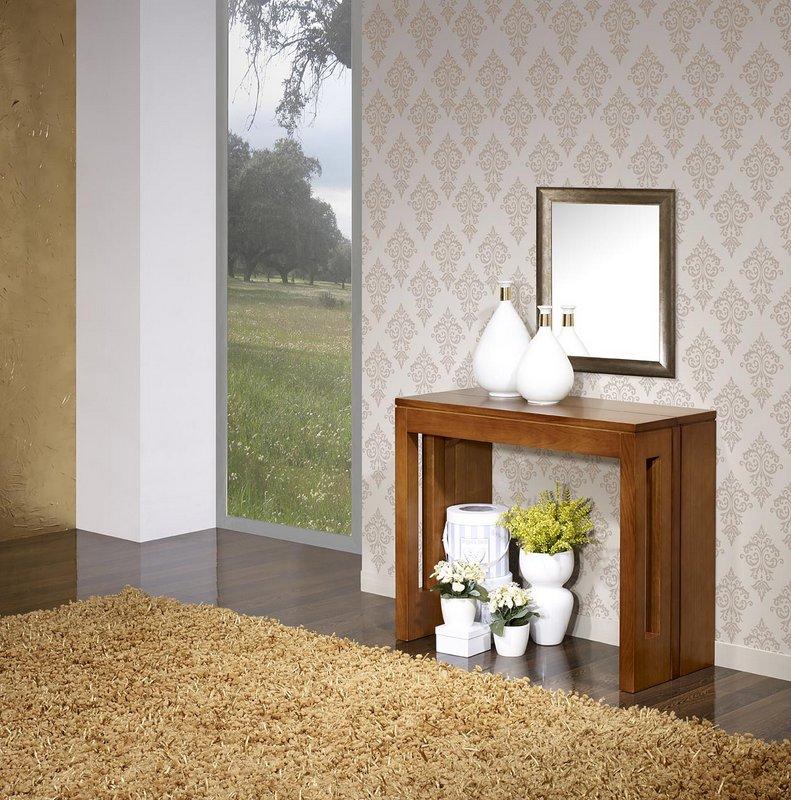 console extensible en ch ne contemporaine 3 allonges meuble en ch ne massif. Black Bedroom Furniture Sets. Home Design Ideas