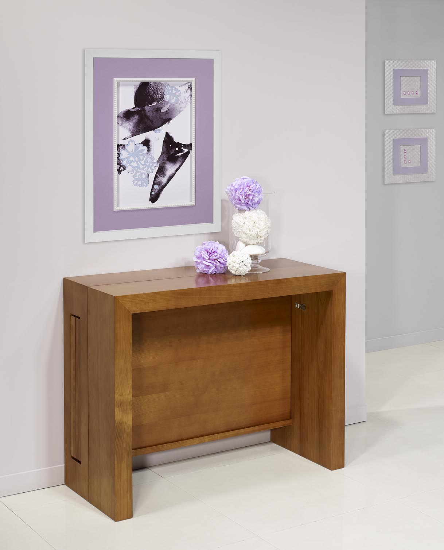 console extensible en merisier contemporaine 4 allonges meuble en merisier massif. Black Bedroom Furniture Sets. Home Design Ideas
