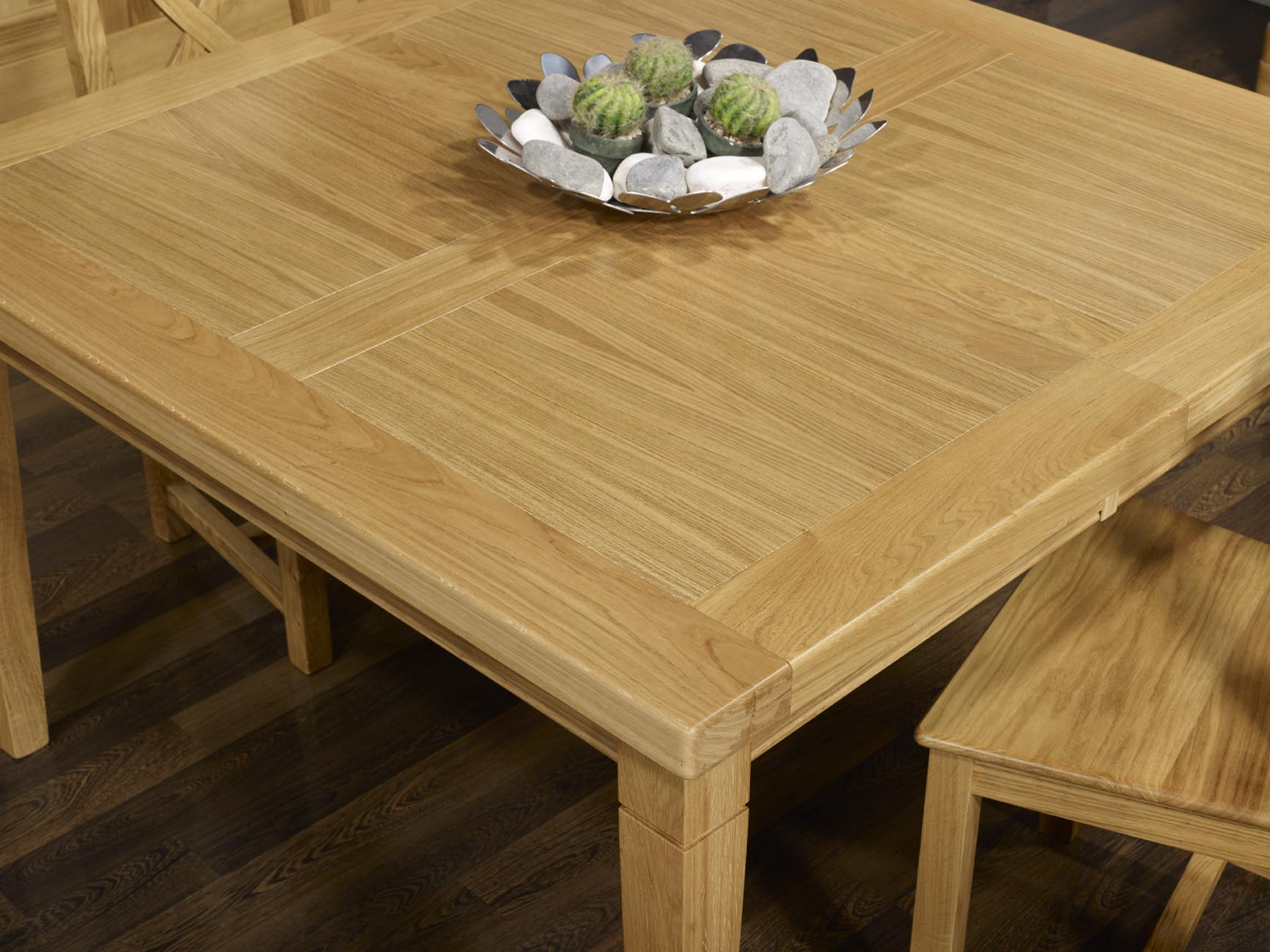 Table de repas carr e en ch ne massif 150x150 meuble en for Table carree 150 x 150