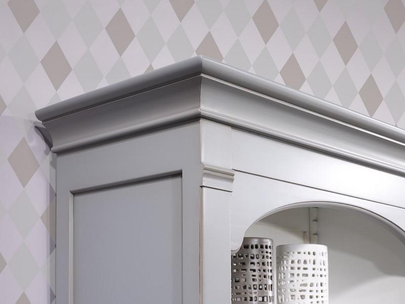 biblioth que caroline en merisier massif de style directoire patin gris et ivoire meuble en. Black Bedroom Furniture Sets. Home Design Ideas