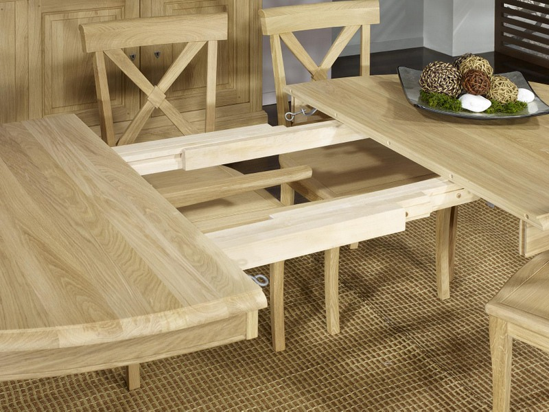 Table ovale 170 110 romain en ch ne massif de style louis - Table 18 personnes ...