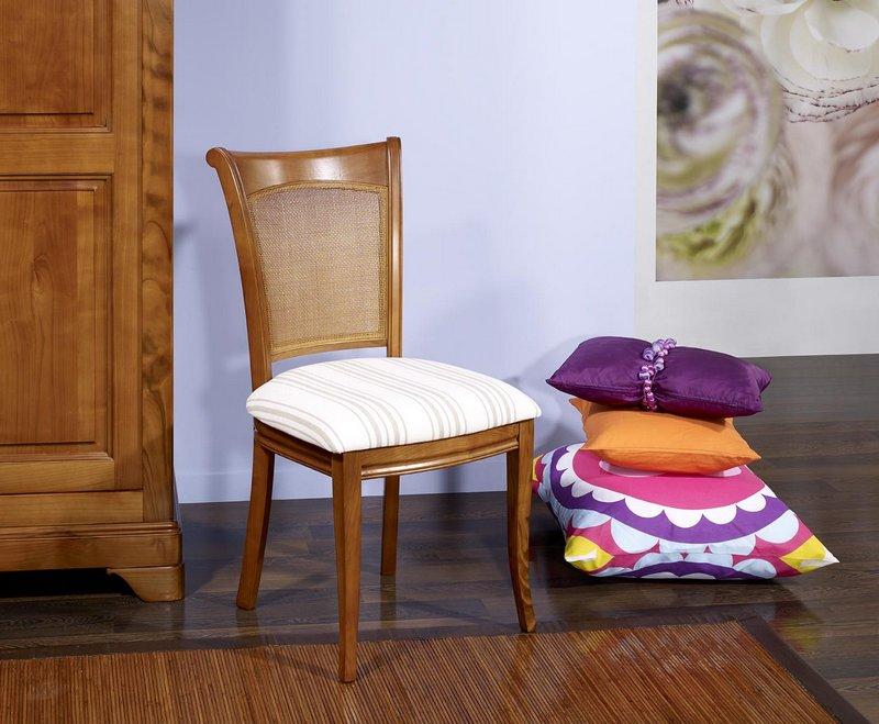 chaise ambre en merisier de style louis philippe meuble en merisier massif. Black Bedroom Furniture Sets. Home Design Ideas