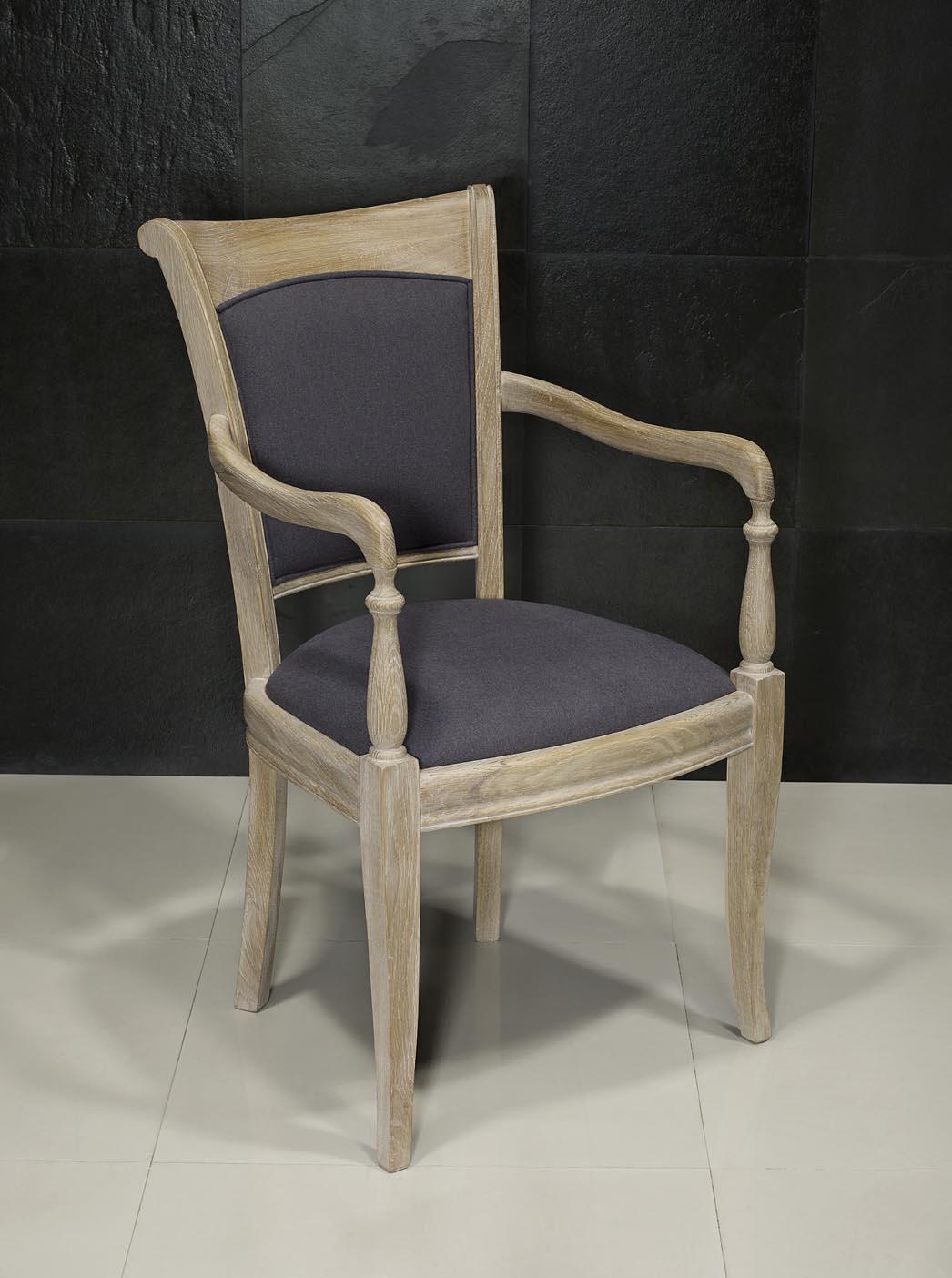 fauteuil xavier en ch ne massif de style louis philippe. Black Bedroom Furniture Sets. Home Design Ideas