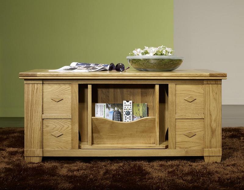 table basse brice en ch ne de style campagnard patine antiquaire meuble en ch ne massif. Black Bedroom Furniture Sets. Home Design Ideas