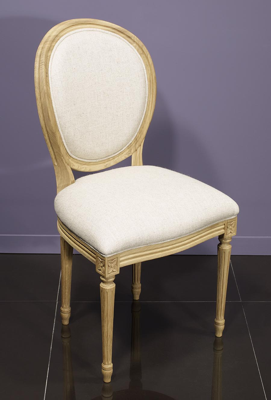 Chaise simon en ch ne massif de style louis xvi finition - Chaise style louis xvi pas cher ...