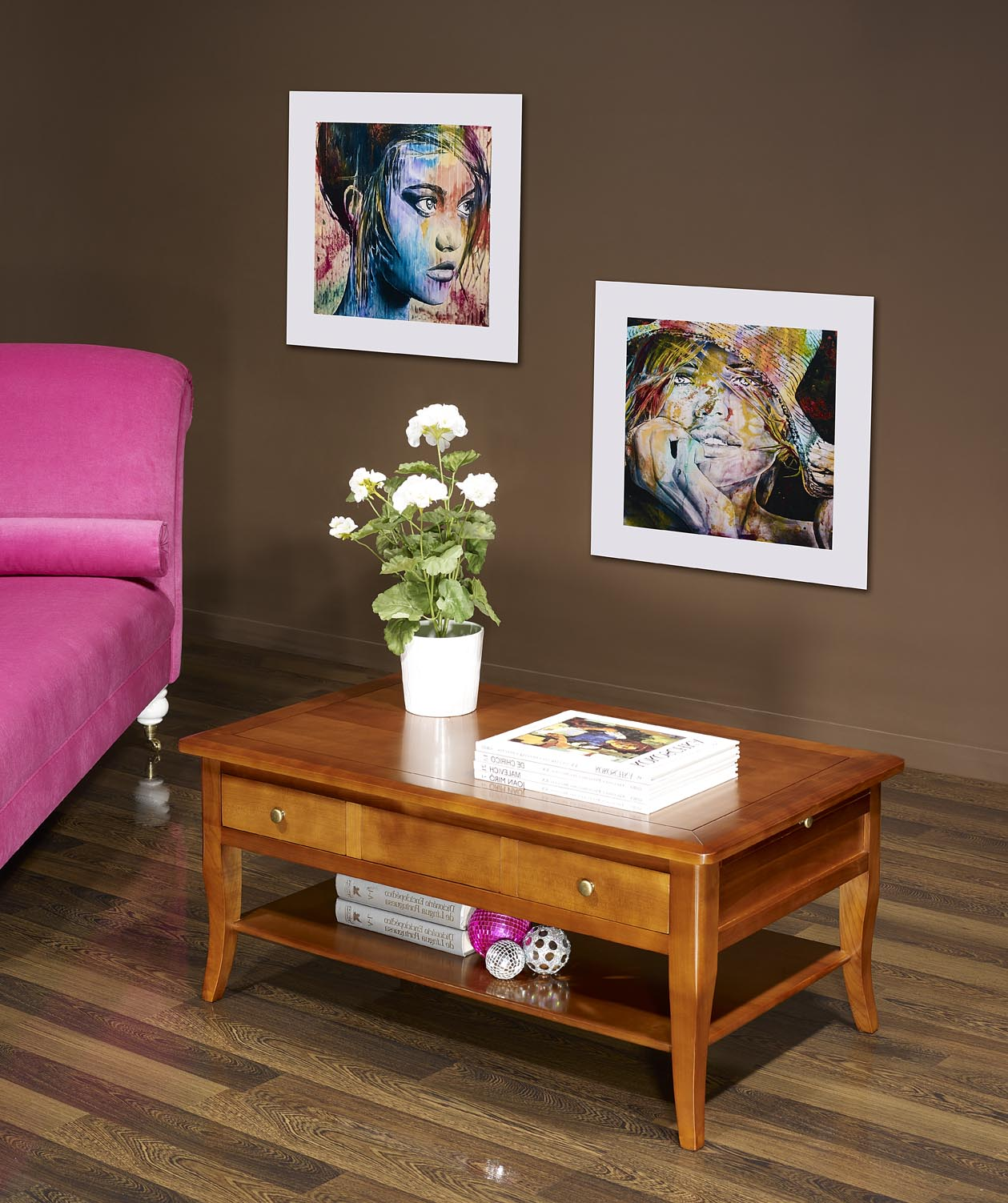 Table basse rectangulaire e en merisier de style louis - Table basse louis philippe ...