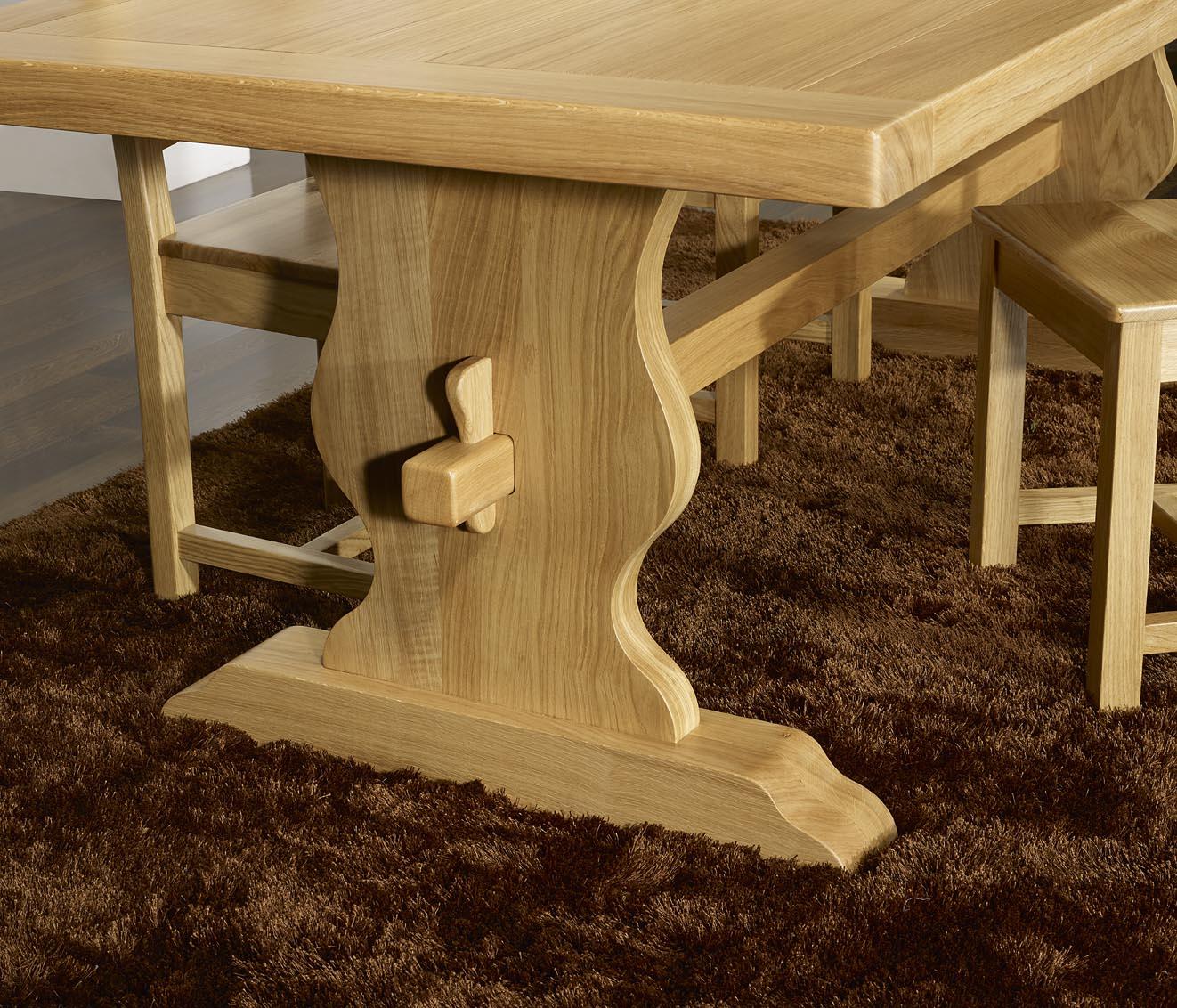 table monast re 200x100 en ch ne massif meuble en ch ne massif. Black Bedroom Furniture Sets. Home Design Ideas