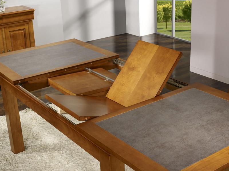 table de repas aurore en merisier massif contemporaine plateau c ramique largeur 180 cm meuble. Black Bedroom Furniture Sets. Home Design Ideas