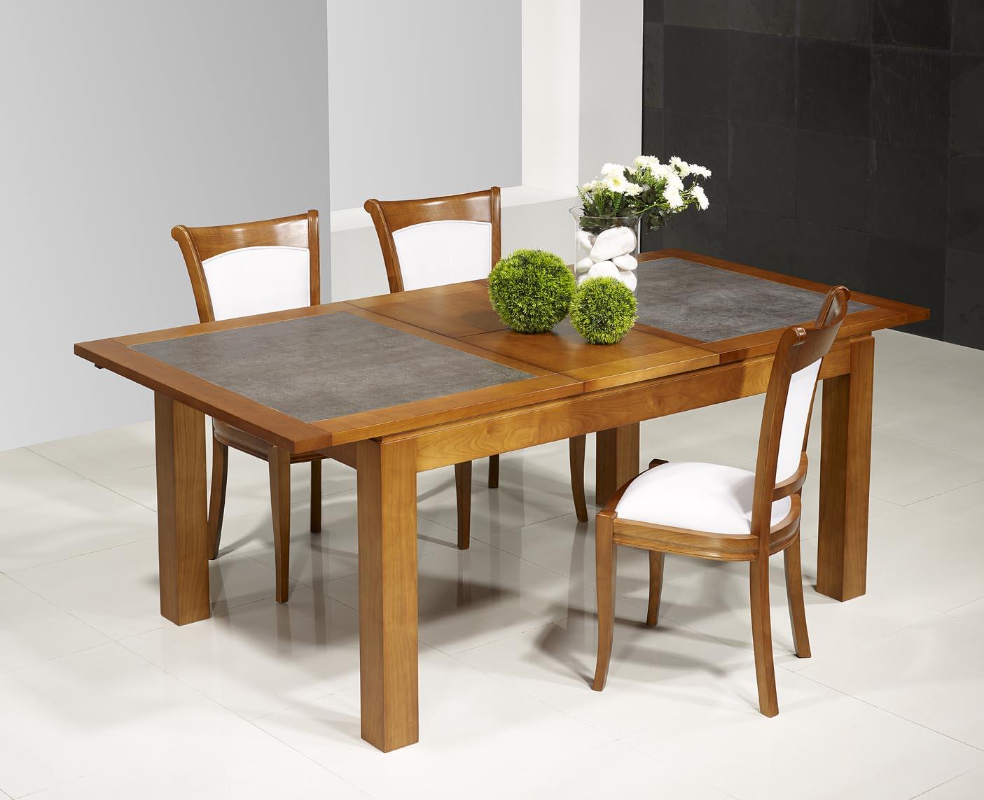 table de repas aurore en merisier massif contemporaine. Black Bedroom Furniture Sets. Home Design Ideas