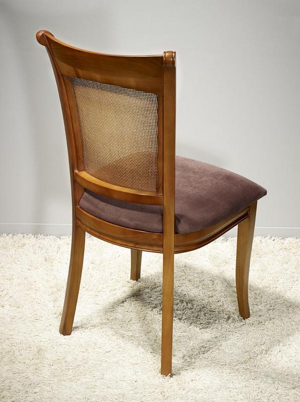 Chaise ambre en merisier de style louis philippe assise chocolat meuble en merisier massif - Chaise merisier louis philippe ...
