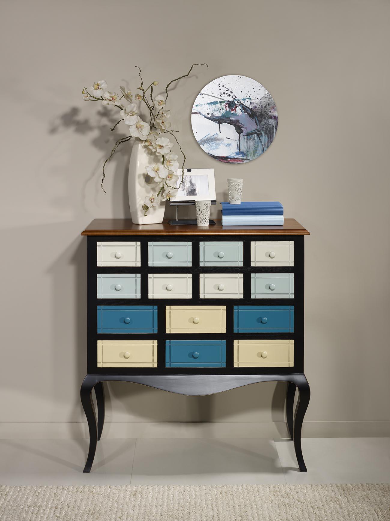 commode ou meuble d 39 entr e selena en merisier et. Black Bedroom Furniture Sets. Home Design Ideas