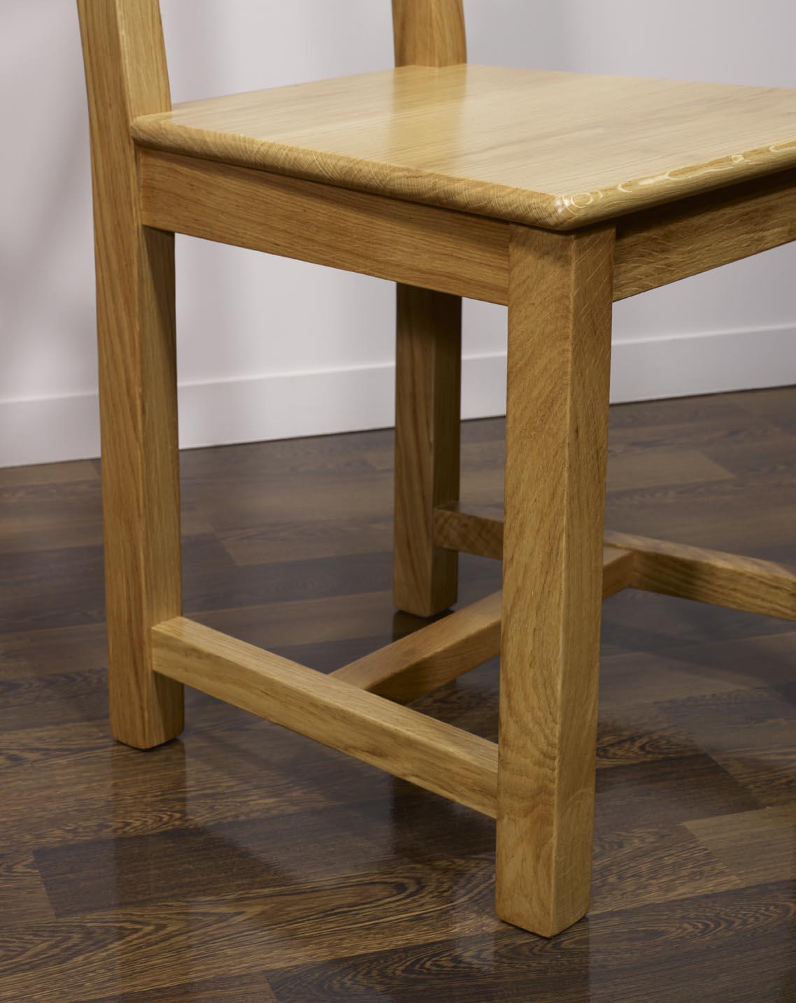 Chaise olivier en ch ne massif de style campagne assise ch ne meuble en ch - Table style campagne ...