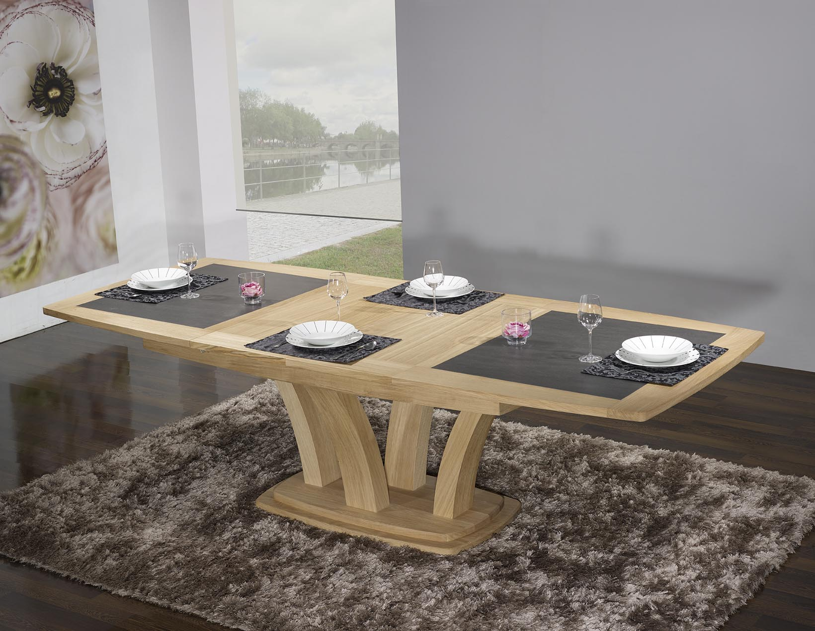 tables de repas contemporaines. Black Bedroom Furniture Sets. Home Design Ideas