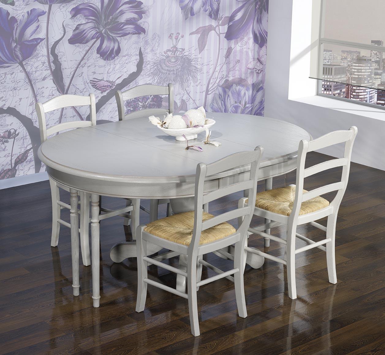 table ronde pied central en ch ne massif de style louis philippe diametre 120 avec 2 allonges de. Black Bedroom Furniture Sets. Home Design Ideas