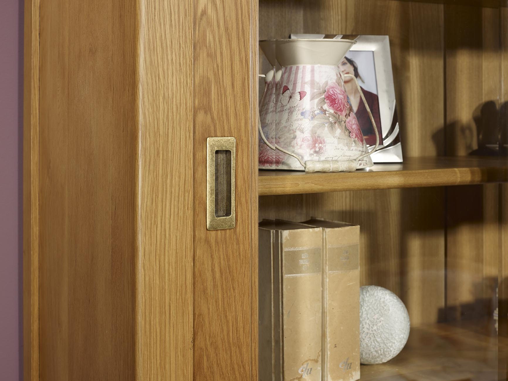 petit biblioth que henry 2 corps 2 portes en ch ne massif. Black Bedroom Furniture Sets. Home Design Ideas