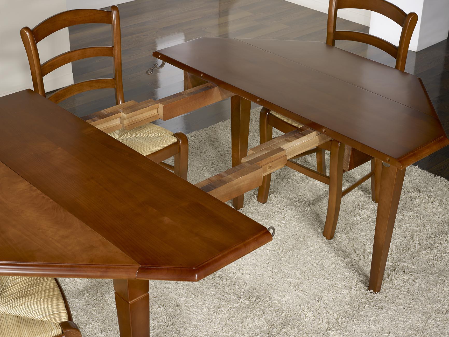 table volets octogonale 120x120 en merisier massif 4. Black Bedroom Furniture Sets. Home Design Ideas