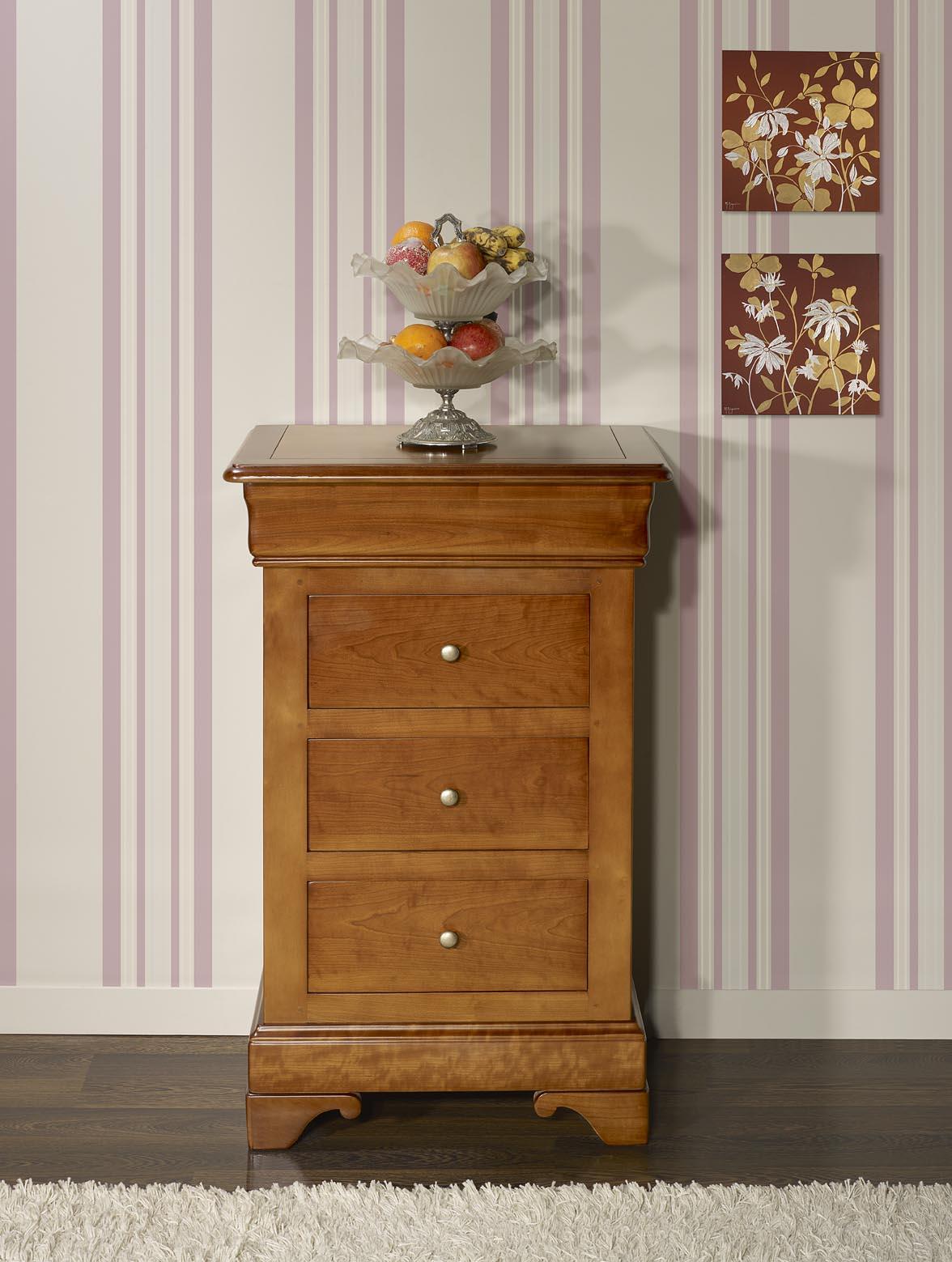 Chiffonnier Bois Massif > Chiffonnier 4 tiroirs en Merisier Massif de style Louis Philippe , meuble en Merisier massif