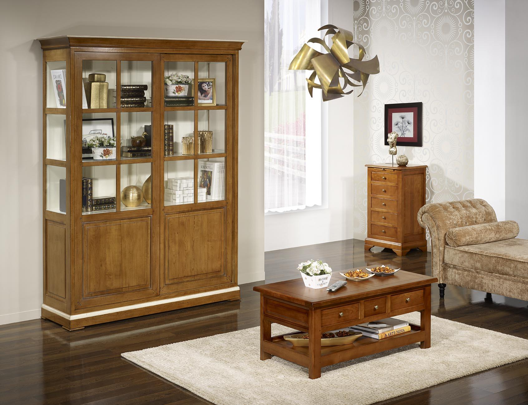 table basse rectangulaire jean baptiste en ch ne de style louis philippe campagnard meuble en. Black Bedroom Furniture Sets. Home Design Ideas