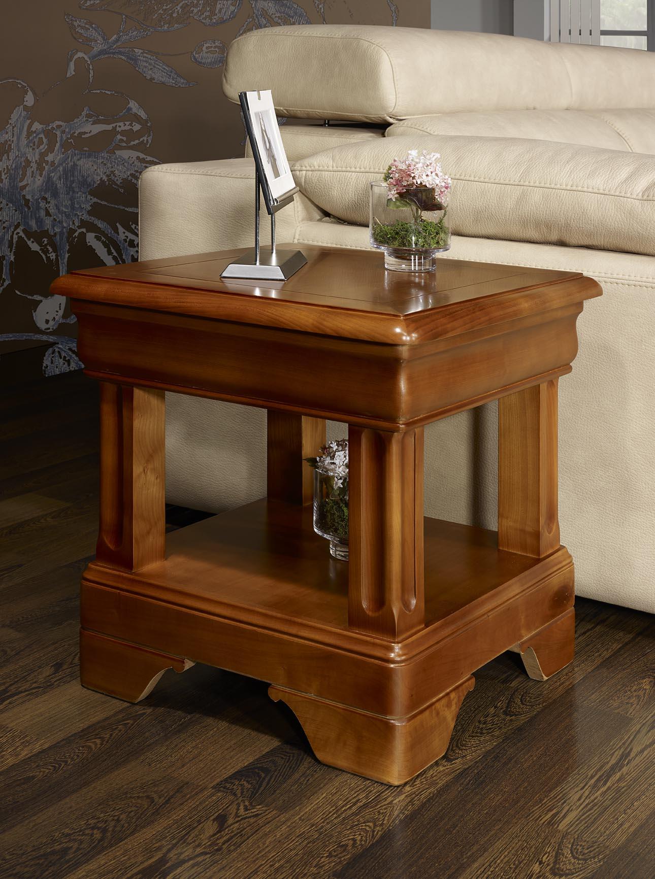 Bout de canap ou table basse en merisier de style louis - Meuble bout de canape ...