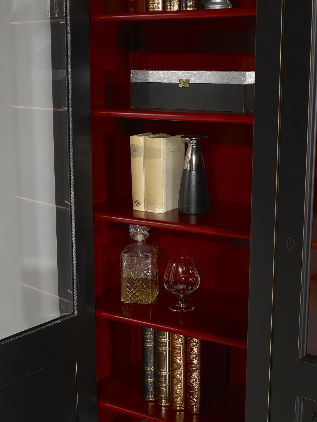 Meuble Rouge Et Noir Simple Meuble Bois Miami Gris With Meuble  # Meuble Bibliotheque Couleur Merisier