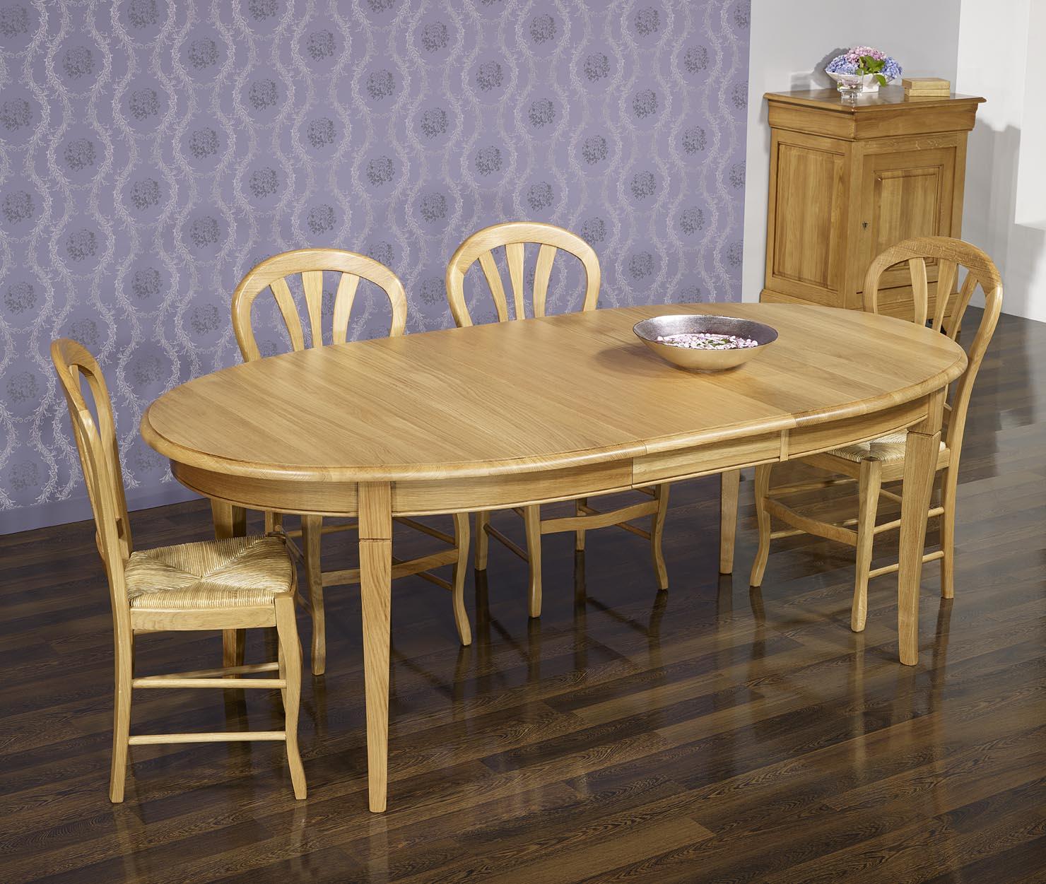 table ovale en ch ne massif de style louis philippe finition ch ne dor 160x120 meuble en. Black Bedroom Furniture Sets. Home Design Ideas