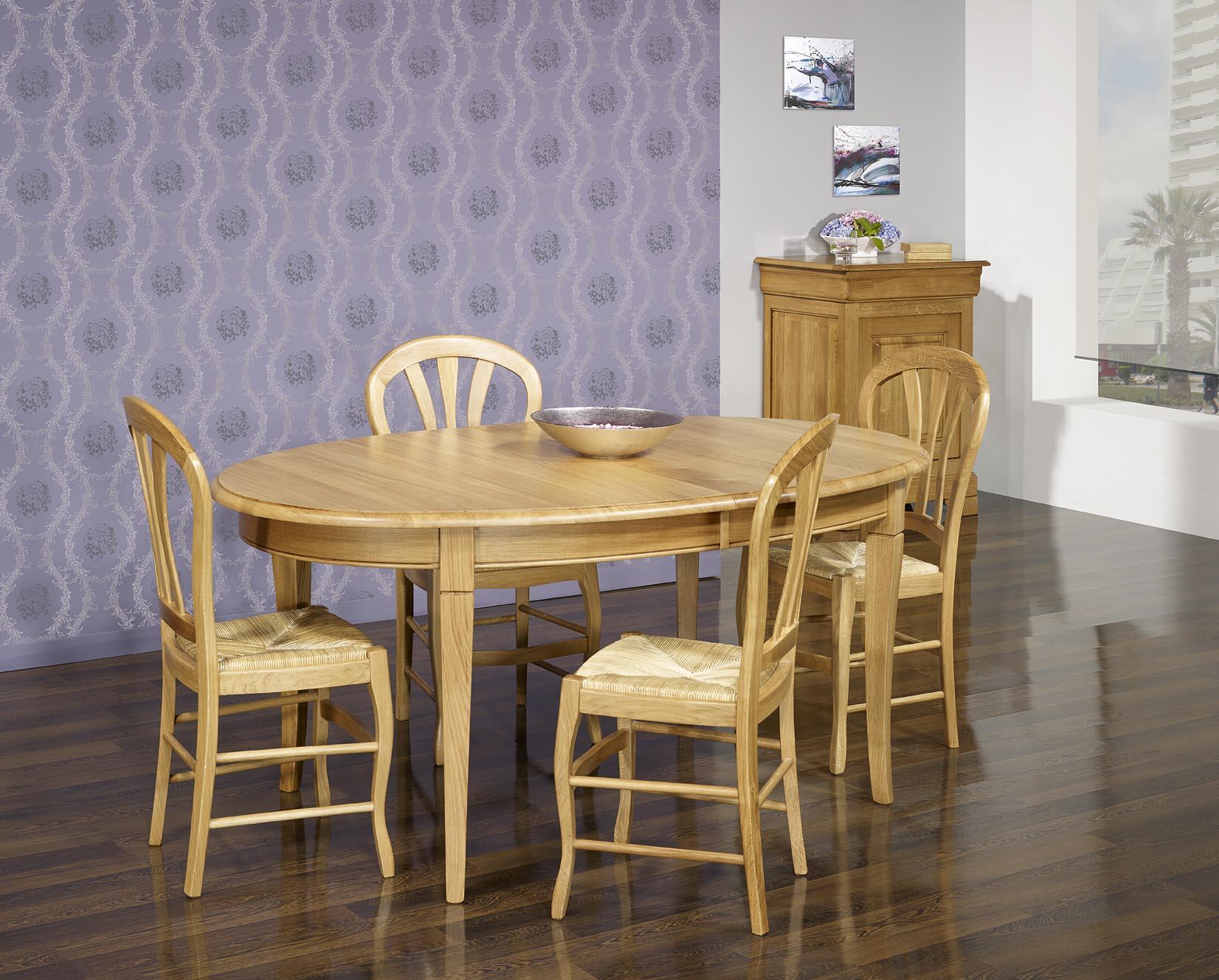 Table Ovale 170x110 En Chene Massif De Style Louis Philippe Avec 2