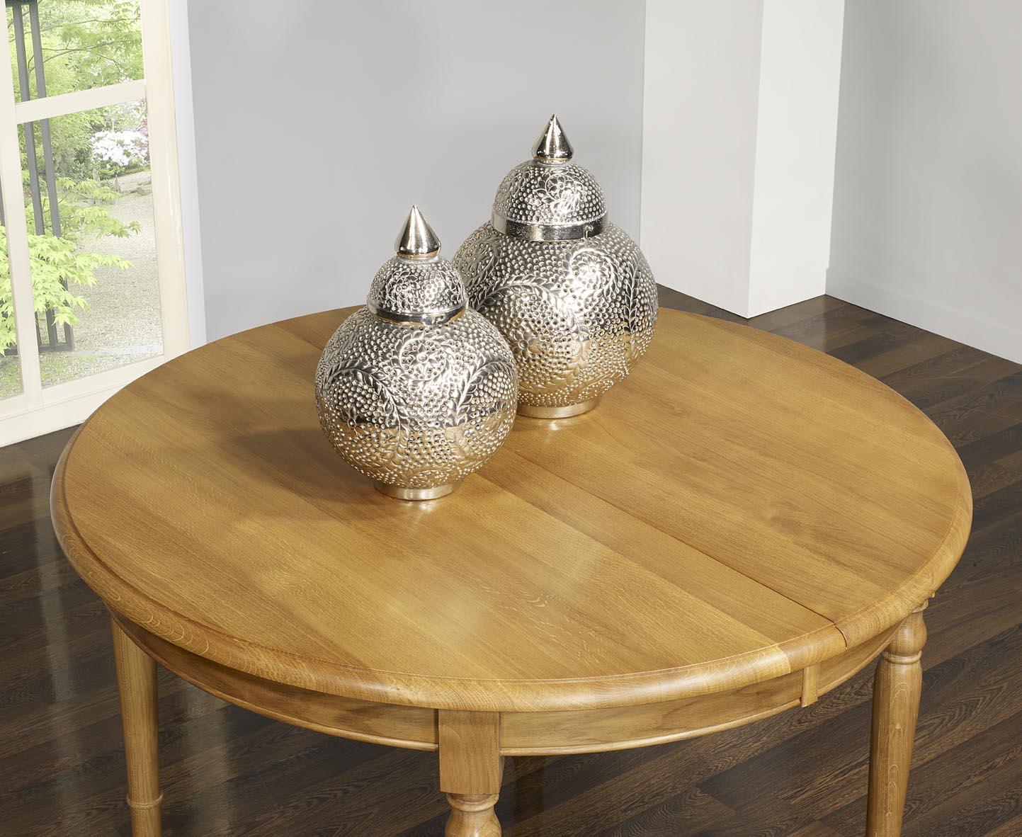 Table ronde en ch ne massif de style louis philippe diam - Table ronde style louis philippe ...