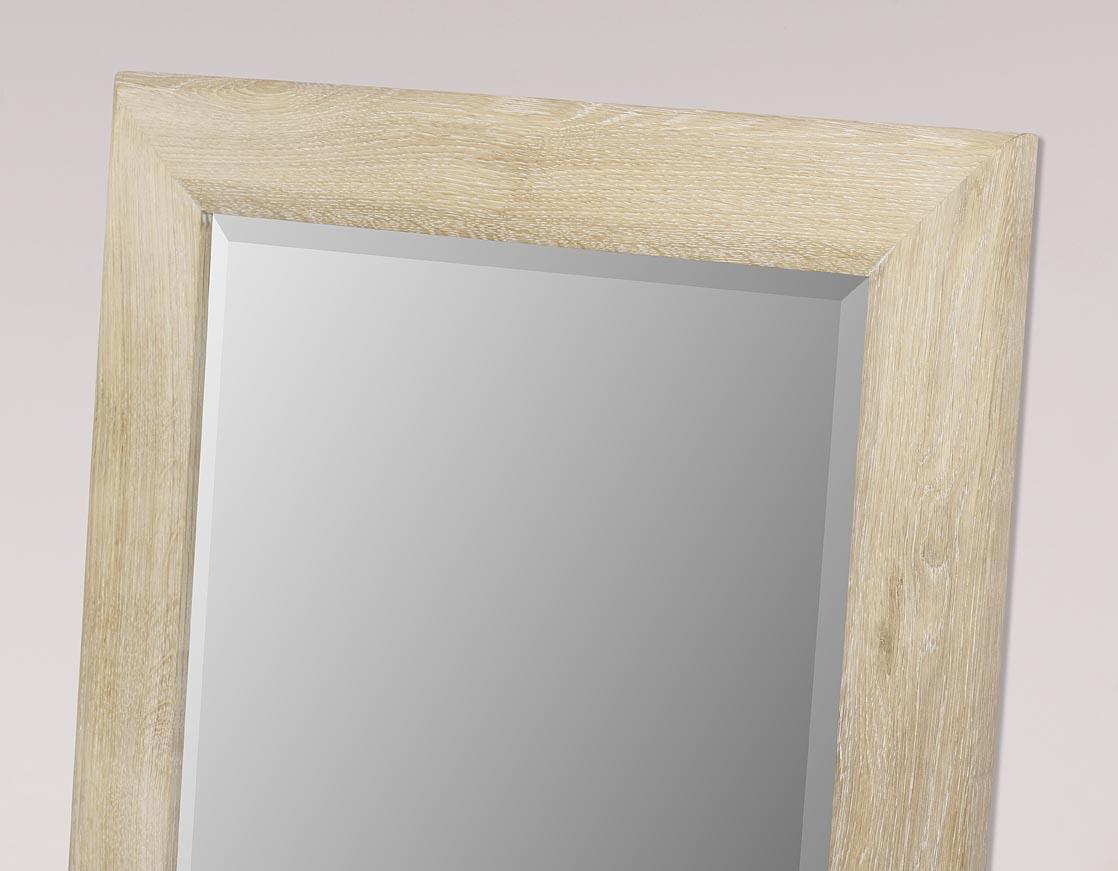 Miroir glace biseaut e 120x60 en ch ne massif finition for Miroir 60 x 90