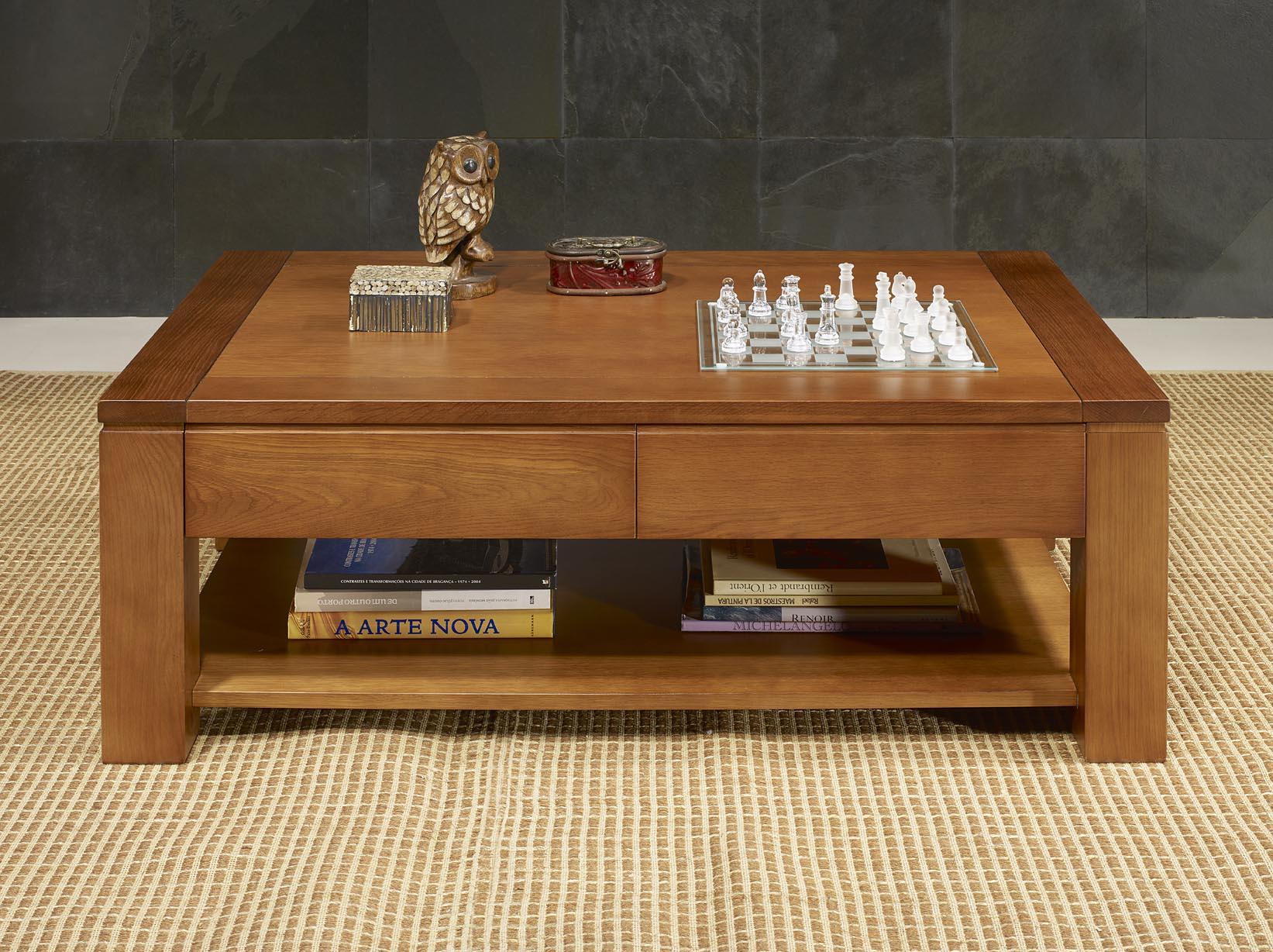 table basse jean en ch ne massif ligne contemporaine. Black Bedroom Furniture Sets. Home Design Ideas