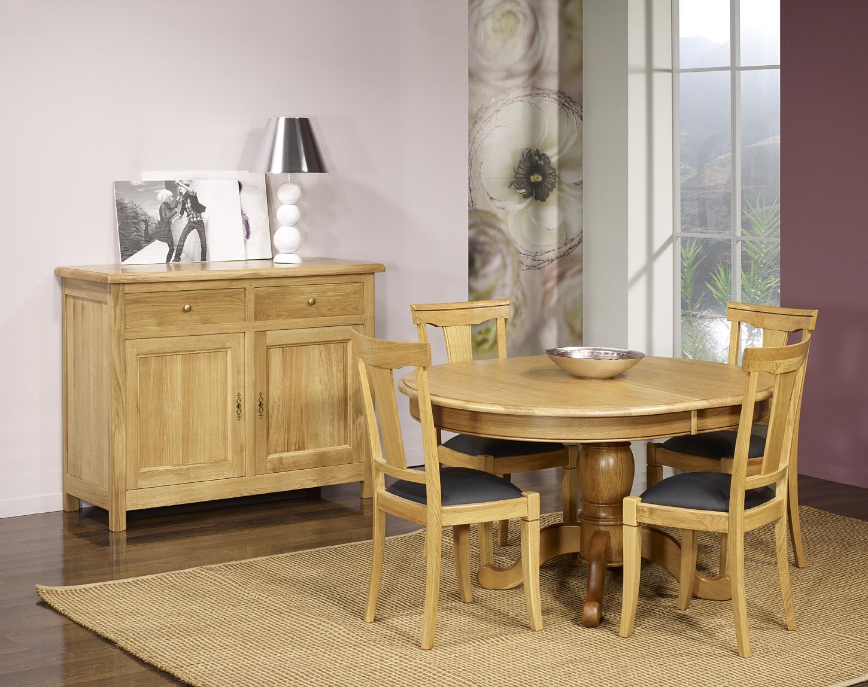 table ovale pied central j r me en ch ne massif de style louis philippe 135x110 finition ch ne. Black Bedroom Furniture Sets. Home Design Ideas