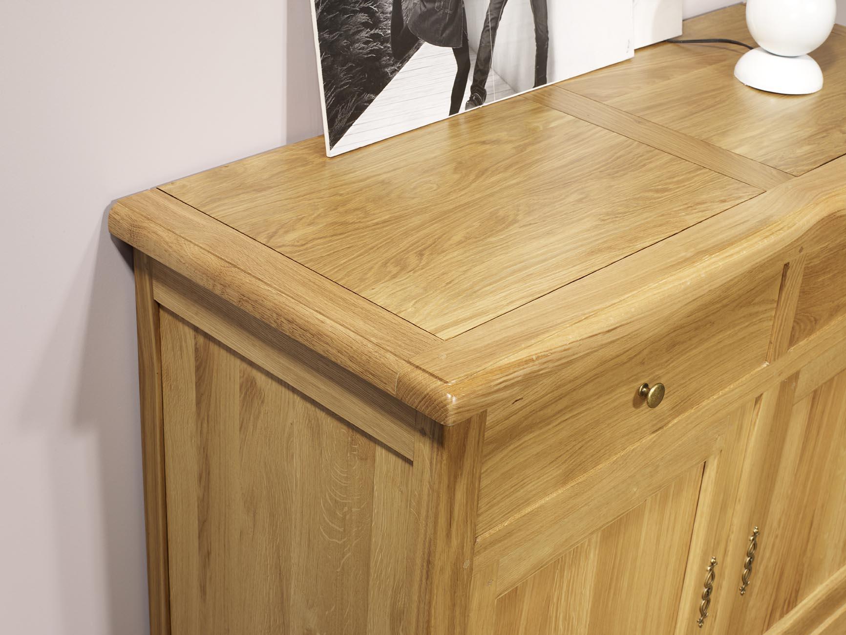 Buffet 2 portes 2 tiroirs en ch ne massif de style - Meuble style campagnard ...