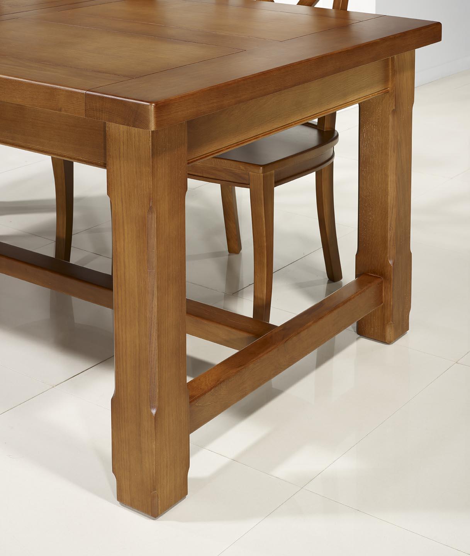 table de ferme rectangulaire mathis en merisier massif 160x100 2 allonges de 45 cm meuble en. Black Bedroom Furniture Sets. Home Design Ideas
